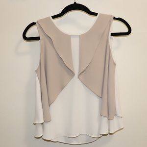 Zara layered blouse